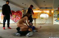 Public porn with kinky watchers enjoying hot stuff